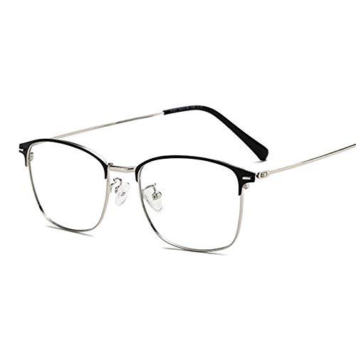 NJKJ Brillen Sun Photochrome Linse Quadratische Kurzsichtige Brille Anti-Blau-Licht-Brille Dioptrien 0 -0.5 -1.0 Bis -4.0-Schwarz-Silber_-250 (-2.5)