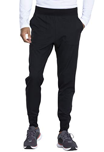 Dickies Dynamix Men Scrubs Pant Natural Rise Jogger DK040S, L Short, Black