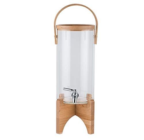 HXPP Fläschchen Glas Hochtemperatur-Saft Ding kühle Wasserflasche mit Hahn-Saft-Behälter Großer Kapazität Kälte Kessel Buffet Getränk Barrel (Color : Small transparent 3.1L)