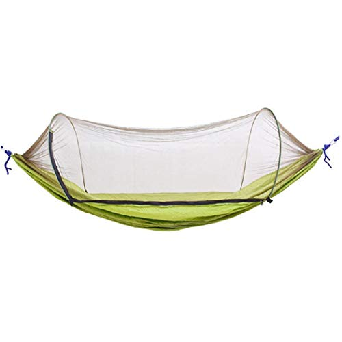 JRXyDfxn Camping Hammock Moskitonetz Outdoor-Reisen schlafen Hängematte Bett Anti Mosquito Camping Hammock Outdoor-Zubehör Armee-Grün 1Set