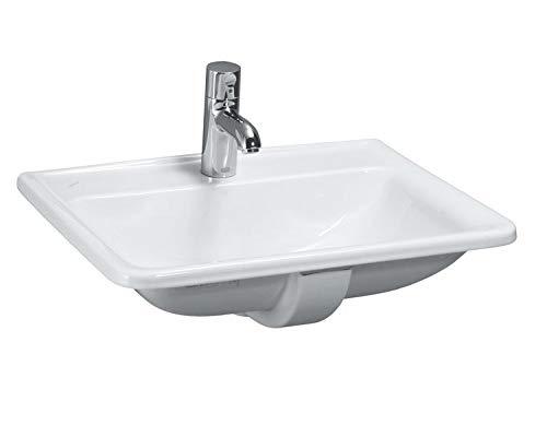 Laufen PRO A Einbauwaschtisch, ohne Hahnloch, mit Überlauf, 560x440, weiß, Farbe: Weiß