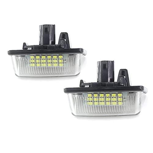 MOLEAQI 2 uds Bombilla LED Blanca para Placa de matrícula Canbus para To-yota Corolla E11 Crown S180 Starlet EP91 Vios Previa ACR50 GSR50