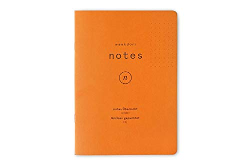Notizheft | weekdori notes A6 | Gmund Papier