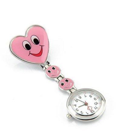 Row_120cc Bel Orologio Moda Giallo Love Smiley Infermiera Tavolo, Amore rosa