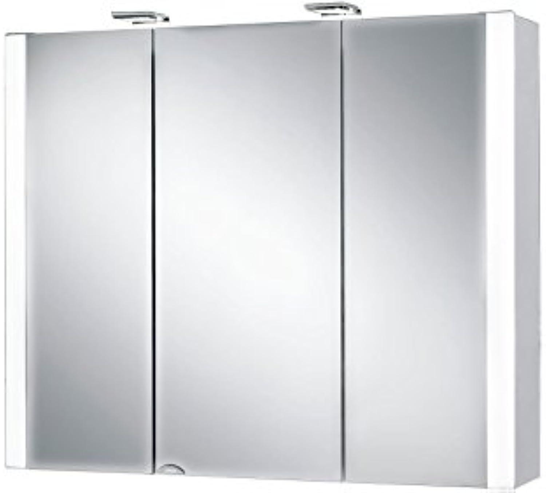 Jokey Spiegelschrank Jarvis wei 80cm 3 Türen