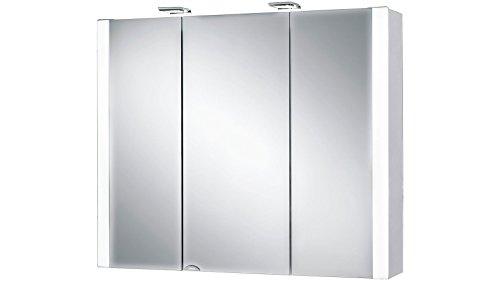 Jokey Spiegelschrank Jarvis weiß 80cm 3 Türen
