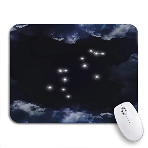 Gaming Mouse Pad Leo Sternbild Sternzeichen Das wird durch Wolken gesehen Rutschfeste Gummiunterlage Mousepad für Notebooks Computer Mausmatten