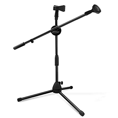 Small Microphone Stand Boom Mic Arm For Singing 360 Rotating Dual Mic Holder Clip Foldable Tripod Stands 5 Core MS DBL S ⭐⭐⭐⭐⭐Ratings ✔️ Best Deal