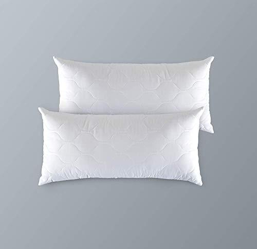 Kaliope 2tlg Set 2 Kissen 40 x 80 cm, geeignet für Allergiker Atmungsaktiv Polyester Kopfkissen Für Alle Schlafpositionen - Ohne Chemikalien (Oeko-TEX Standard 100)