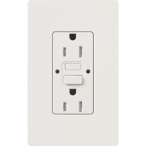 Lutron, White CAR-15-GFST-WH Claro 15-Amp Self-Testing Receptacle