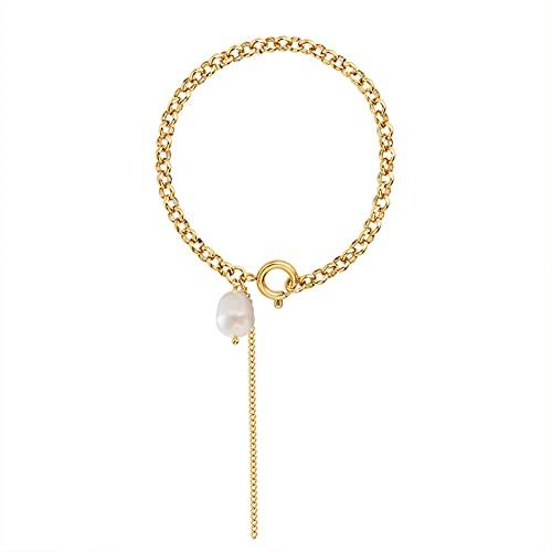 YJZW Gold Chain Bracelet For Women Girls 18k Gold Plated Dainty 17cm/6.69in Chain Bracelets Fashion Jewelry Gift