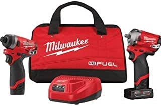 Milwaukee (MLW259922) M12 FUEL 2PC 3/8IN & 1/4IN Hex Stubby Auto Kit