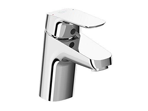 Armatur / Waschtischarmatur CERAFLEX | + Metall Zugknopf-Ablaufgarnitur G1 ¼, Befestigung von unten, Starrer Gussauslauf | Ausladung 101 mm, Auslaufhöhe 68mm, Oberfläche: Chrom