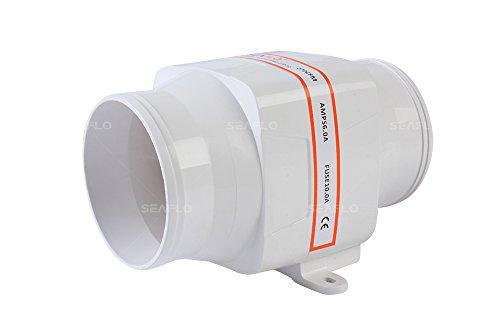 "SEAFLO 4"" 270 CFM Ventilador de sentina en línea"