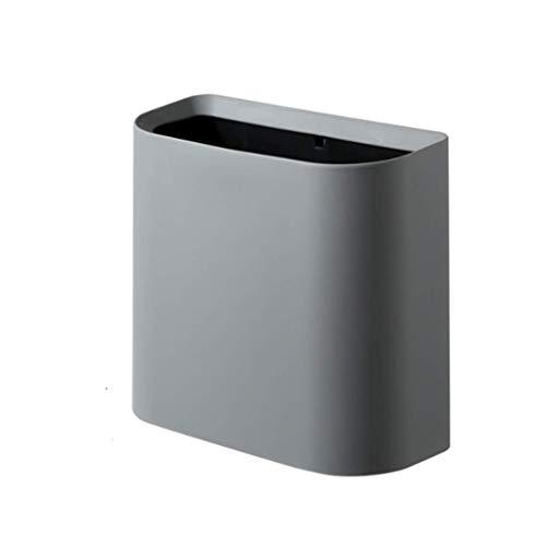 1yess Mülltonne Mülleimer Abfallbehälter Küche Mülleimer Mülleimer Haushalt Badezimmer WC wasserdichte Schmale Naht Mülleimer Mülleimer Abfallbehälter (Farbe: grau) (Color : Gray)