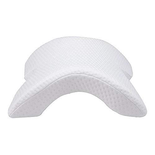 EUROXANTY Almohada Cervical Viscoelástica | sin Presión | Almohada Cervical para Dormir de Lado | 37,5 x 31 x 13,5 Centímetros |