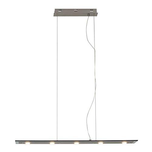 Brilliant Smoke LED 5 lampen x 5 W lampen inclusief niet verwisselbare slinger dimbaar in hoogte verstelbaar, metaal/glas/ijzer G93502/13
