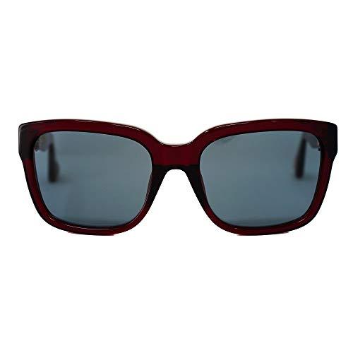 Ann Demeulemeester Gafas de sol D-Frame Oscuro Rojo 925 Plata con Lentes Azules AD9C3SUN
