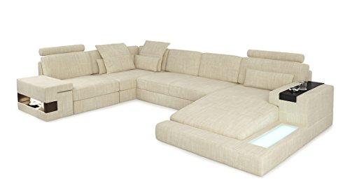 Bullhoff by Giovanni Capellini Sofa Couch Wohnlandschaft XXL modern Stoffsofa Design Ecksofa U-Form mit LED-Licht Beleuchtung Hamburg