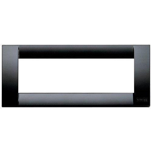 Vimar Serie Idea–Placca Classica 6modulo plastico nero