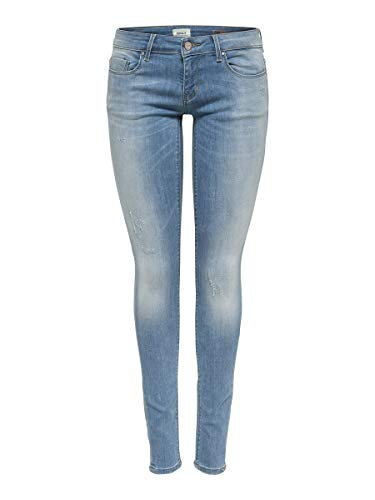 ONLY Damen Skinny Fit Jeans ONLCoral sl 2830Light Blue Denim