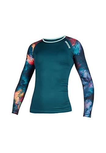 Mystic Wassersport - Surf Kitesurf & Windsurfen Frauen Diva Long Sleeve Rash Vest Top - Teal - UV - Protection und SPF