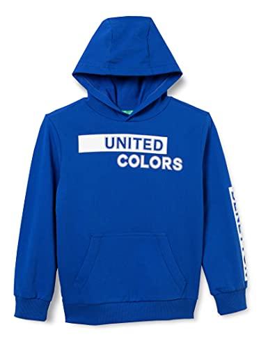 United Colors of Benetton (Z6ERJ Maglia C/CAPP. M/L 3BC1C2262 Sudadera con Capucha, Surf The Web 19r, XX-Large para Niños