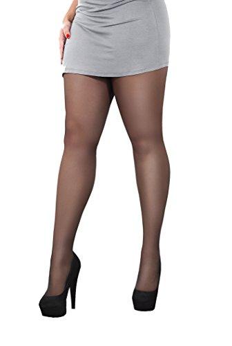 Hoge kwaliteit voller figuur, ontspannen en corrigeren panty's, 40 Den, Marilyn Rubens, (S - L)