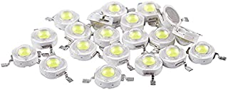 WHHHuan 20pcs High Power 2 Broches 3W White LED Blead Emitters 170-190LM 6000K (Couleur : Blanc, Taille : Blanc)