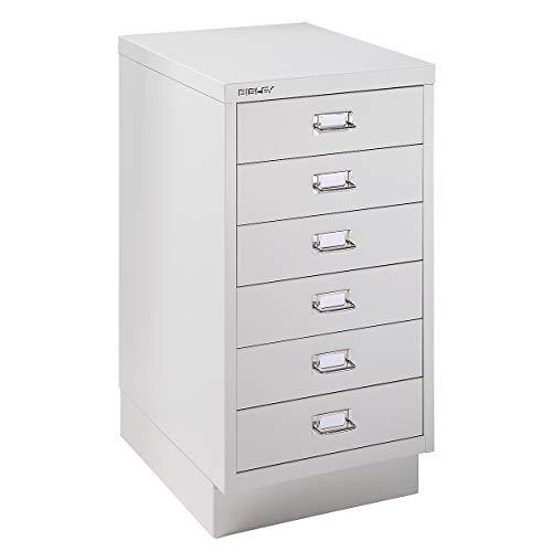 Bisley Schubladenschrank - 6 Schubladen für Format DIN A3 - lichtgrau | 112SPM-AT4 - Schubladenschrank Wandschrank Wandschränke Büroschrank