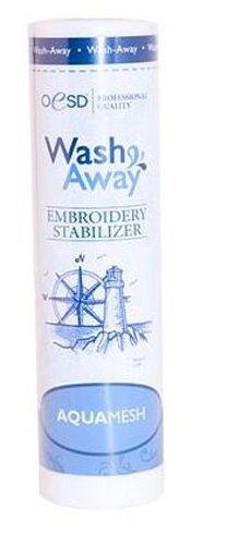 "OESD Aquamesh Wash-Away Stabilizer White 10"" x 10 Yard Roll"