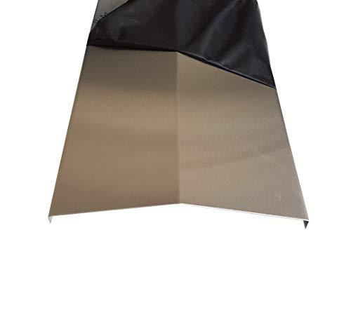 Flammenabdeckung Edelstahl K240 Flammenverteiler GROßE AUSWAHL Gasgrill Flammenblech 0,8mm V2A (Länge: 365mm/ Öffnung 210mm)