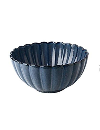 Platos de cerámica azul vintage verde oscuro, platos creativos de arroz, platos de carne, platos occidentales, tazas, platos largos, múltiples estilos (color: altura 3,5 cm)