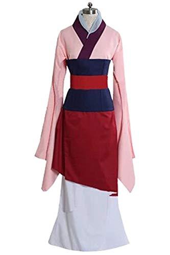 MingoTor Princess Weiblicher Superheld Superhero Chinesische Trachten Kleid Weiblicher General Hanfu Cosplay Kostüm Rosa Damen L