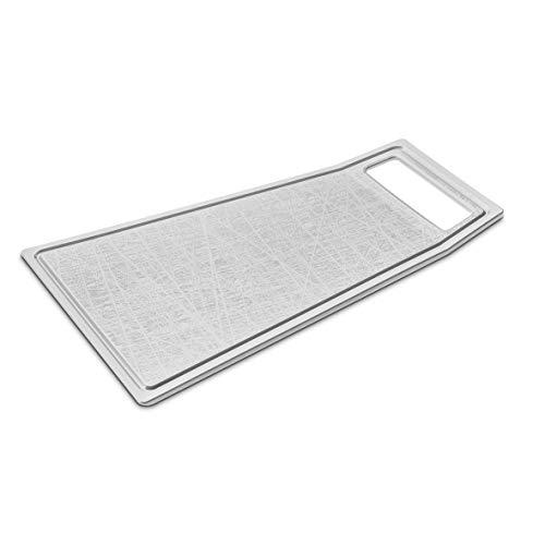 Koziol - Tagliere in plastica, 42,2 x 27,4 x 2 cm, colore: Grigio