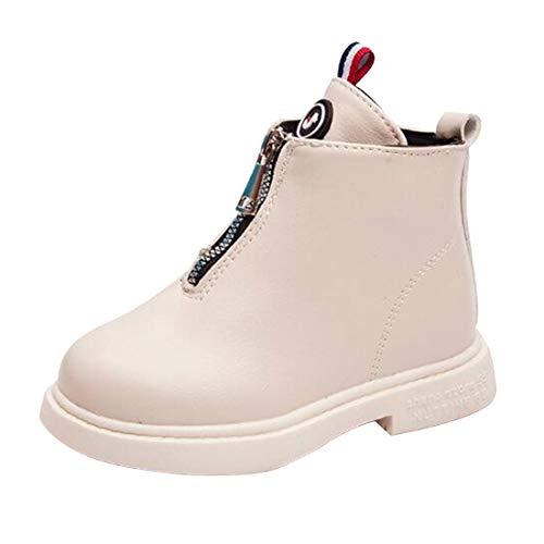 Aiweijia Mädchen-Winter-warme Schnee-Aufladungen Beiläufige Britische wasserdichte Plüsch-Schnee-Aufladungen Ankle Boots Halloween-Kleidungs-Schuhe Vorderer Reißverschluss
