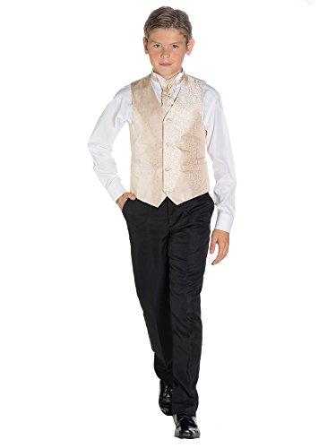 Paisley of London, Chaleco Para Traje Para Niño, Remolino chaleco, Negro Pantalones, 3-6 meses - 14 años