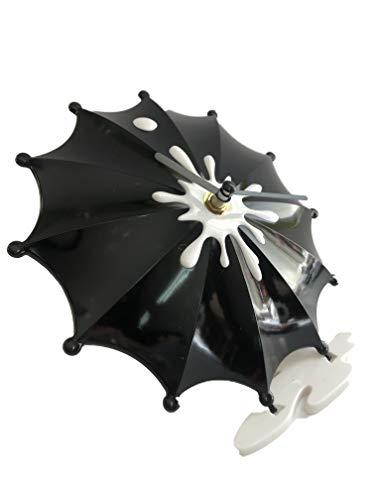 DECOHOUSE Reloj Original sobremesa Paraguas Negro - Regalo Ideal -