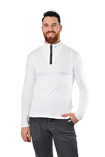 HIMALAYA MOUNTAIN - FIT Men - T-Shirt Technique - Homme – White -M