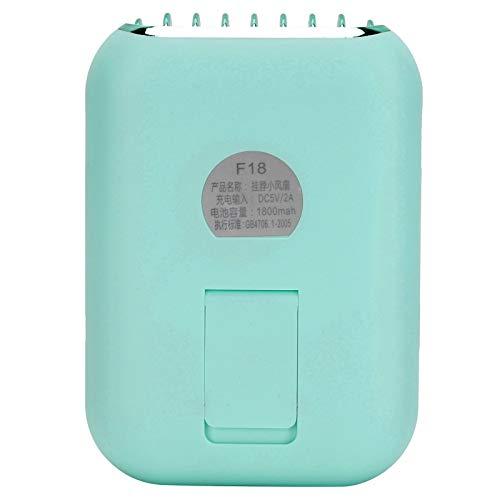 Ventilador sin aspas, Ventilador USB Alta Potencia eólica Manténgase Fresco Entre 2 y 6 Horas de Trabajo para Pescar Acampar Caminar Senderismo(Malachite Green)