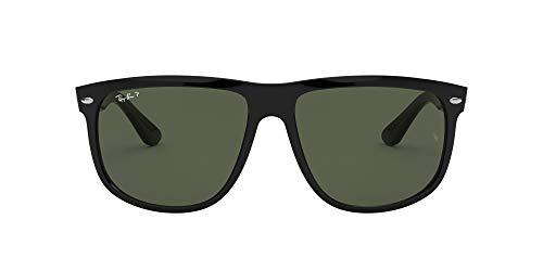 Rayban - Gafas de sol Rectangulares Rb4147 para hombre, Black Frame/ Crystal Green Lens