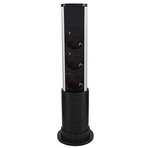 Cargador USB desplegable, cargador internacional, enchufe de escritorio, enchufe de 3 enchufes, conector de alimentación + 2 cargadores USB para oficina en casa