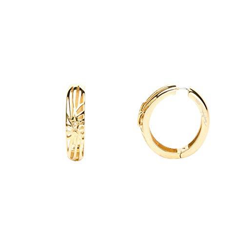 Pendientes de aro Therry Mugler chapados en oro con óxido de circonio T31202DZ