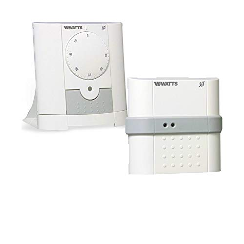 Watts Vision - Termostato analógico inalámbrico con 1 receptor empotrado y regulador de termostato