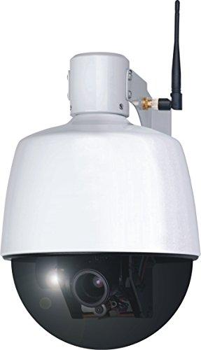 ELRO C904IP.2 Plug und Play WIFI Netzwerk PTZ Dome Kamera mit optischem Zoom für den Außenbereich