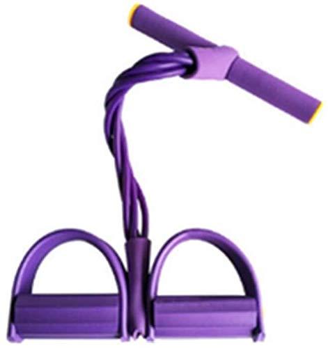zhangcheng Equipo de Gimnasia Cuerda tensora de Pedal de Cuatro Tubos,Equipo de Gimnasia para Ejercicios Abdominales en el hogar,Banda de Yoga con Resistencia Delgada para la Cintura y Las piernas