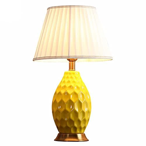 DAI QI Lámpara de Mesa LED de cerámica Moderna para Sala de Estar Decoración de luminaria Dormitorio Luz de Dormitorio Luz de cabecera Iluminación de iluminación Interruptor de atenuación