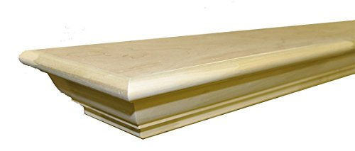 "Sams Creek Forest Products Frederick Mantel Shelf Paint Grade Unfinished Poplar 60""W x 7-3/4""D x 3-3/4""H"
