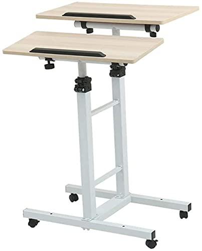 Escritorio portátil móvil Escritorio portátil móvil - Mesa de comedor simple con elevación mesa doble portátil para mesita de noche Mesa ajustable para portátil (color): B-A