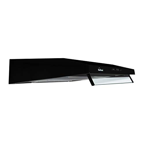 SUNFLAME 60cm 500 m3/hr Chimney (CH Slim 60 BK CF, Cassette Filter, Black)